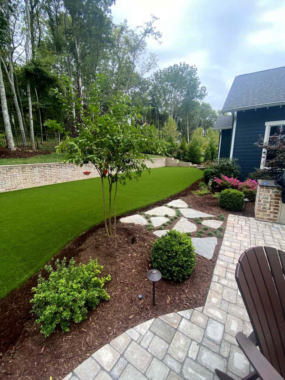 Artificial grass lawn in Nashville