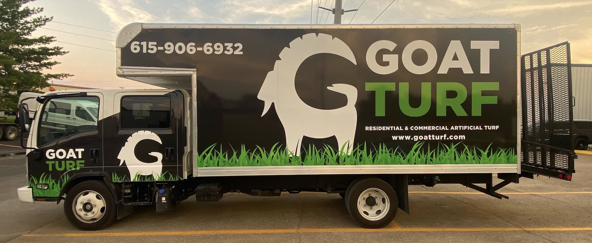 Goat Turf artificial grass wholesale delivery truck