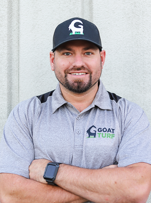 Head artificial turf contractor Tyler Burnett CEO & Founder of Goat Turf