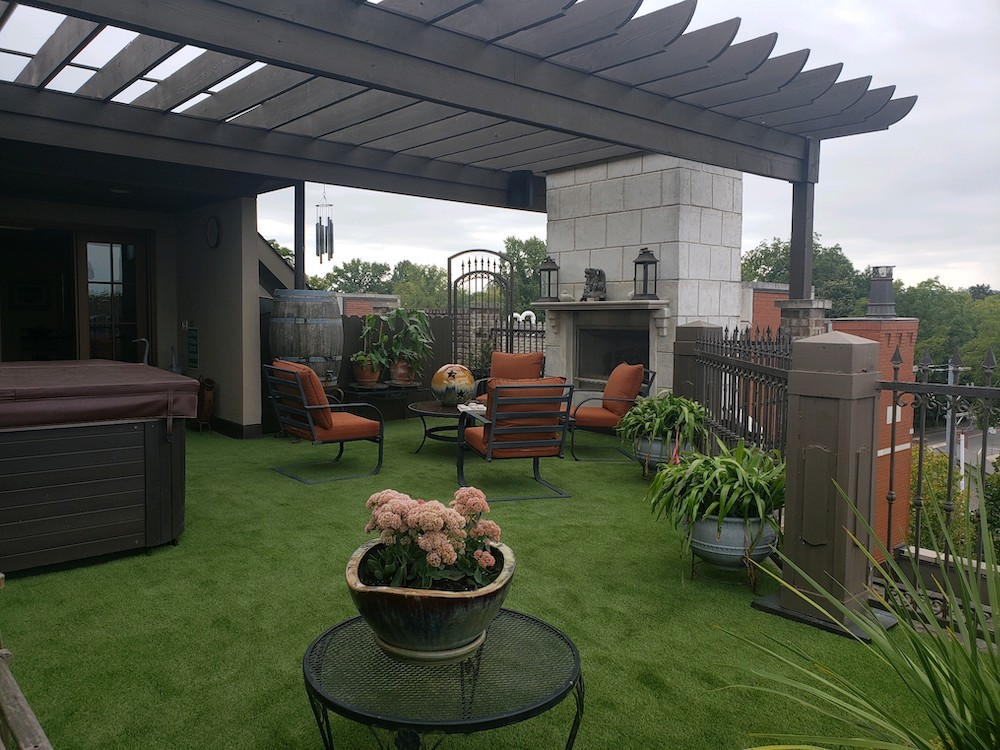 artificial turf roof