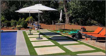 synthetic turf for pool areas
